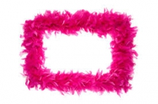 FEATHER BOA PINK SHOCKING PINK