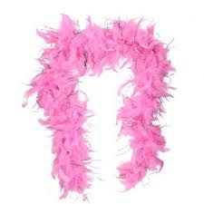 FEATHER BOA PINK LIGHT PINK