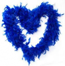 FEATHER BOA BLUE ROYAL
