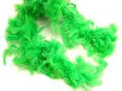 FEATHER BOA GREEN LIME