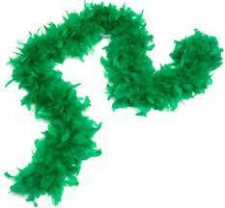 FEATHER BOA GREEN EMEREALD