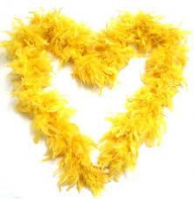FEATHER BOA YELLOW LEMON