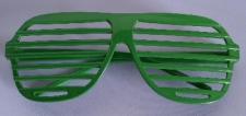 GLASSES GRID GREEN