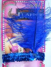 HEADPIECE FLAPPER BLUE
