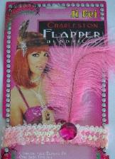 HEADPIECE FLAPPER PINK