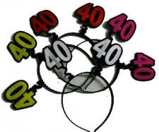 HEADPIECE AGE 40 ASSORTED