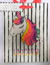 GIFT BAG 26x32CM UNICORN LARGE