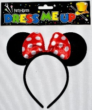 HEADPIECE MINNIE WITH BOW RED