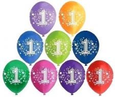 LATEX PRINTED NO.1 BALLOONS ASSTD 10S