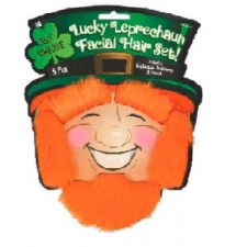 ST PATRICKS DAY BEARD AND EYE BROWS