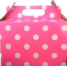 PARTY BOX POLKA BRIGHT PINK