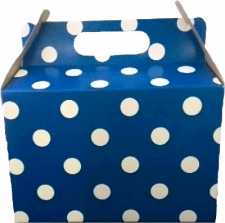 PARTY BOXES POLKA DOT DARK BLUE 8'S