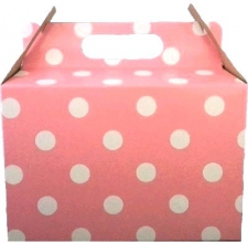 PARTY BOXES POLKA DOT LIGHT PINK 8'S