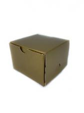 GIFT BOX SQ 7CM GOLD 8s