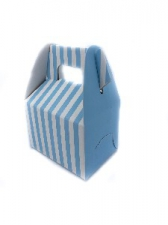 GIFT BOX MINI WITH HANDLE LIGHT BLUE 8s