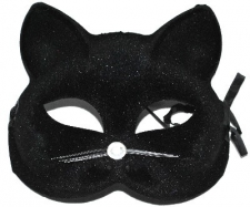 MASK CAT SATIN BLACK