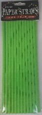 STRAWS PAPER 24s LIME