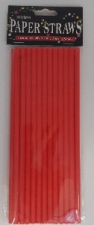 STRAWS PAPER 24s RED