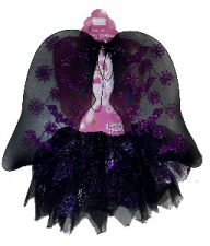 DRESS UP TUTU SET BAT PURPLE