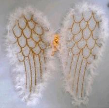 WINGS ANGEL WING 58CM WHITE
