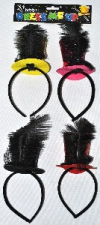 HEADPIECE MINI TOP HAT ASSORTED COLOURS