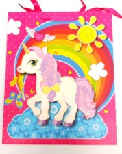 GIFT BAG 3D UNICORN  LRG 40 X 30 CM