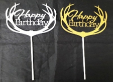 CAKE TOPPER PAPER SILVER & GOLD ASSORTED
