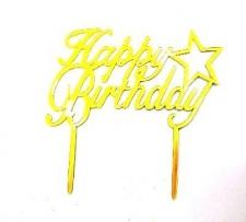 CAKE TOPPER PLASTIC GOLD
