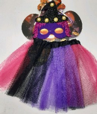 DRESS UP TUTU SET & MASK PURPLE & PINK