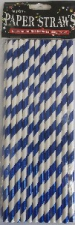 STRAW PAPER 25s BLUE WITH FOIL