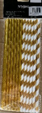 STRAW PAPER 25s GOLD WITH FOIL