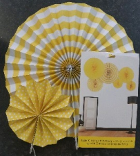 PAPER FAN YELLOW 6 PCS
