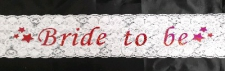 BRIDE TO BE SASH LACE