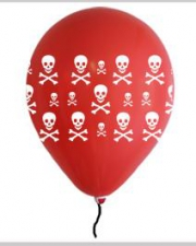 LATEX PRINTED PIRATE RED 10S