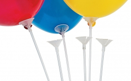 BALLOON CUP AND STICKS