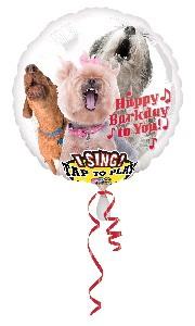 SINGING FOIL HAPPY BIRTHDAY DOGS