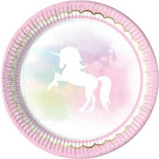 UNICORN BELIEVE PLATES