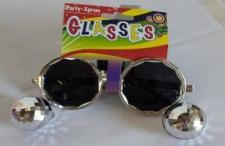 GLASSES DISCO BALLS SILVER