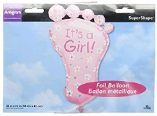 SUPERSHAPE BABY FEET BALLOON GIRL
