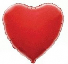 18 INCH FOIL HEART BALLOON RED