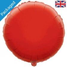 18 INCH FOIL ROUND BALLOON RED