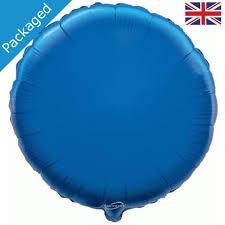 18 INCH FOIL ROUND BALLOON BLUE