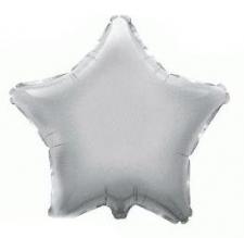 19 INCH FOIL STAR BALLOON SILVER
