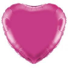 18 INCH FOIL HEART BALLOON FUSCHIA