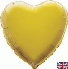 18 INCH FOIL HEART BALLOON GOLD