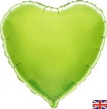 18 INCH FOIL HEART BALLOON LIME GREEN