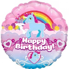 18 INCH FOIL BIRTHDAY UNICORN RAINBOW