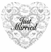 18 INCH FOIL JUST MARRIED BALLOON