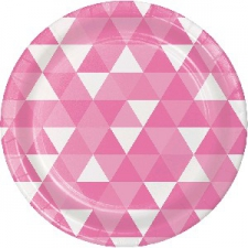 CANDY PINK FRACTAL DINNER PLATE 9 INCH