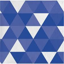 TRUE BLUE FRACTAL SERVIETTES LUNCHEON 2PLY